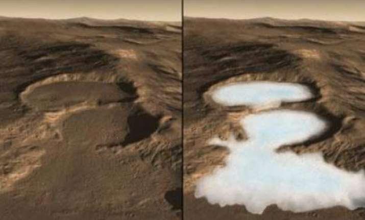 below mars dust are glaciers with frozen water