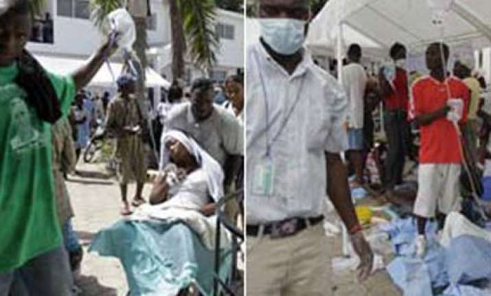 deadly cholera outbreak in quake hit haiti 135 people dead