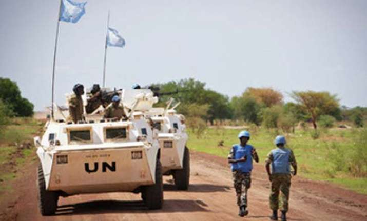un peacekeepers attacked in sudan
