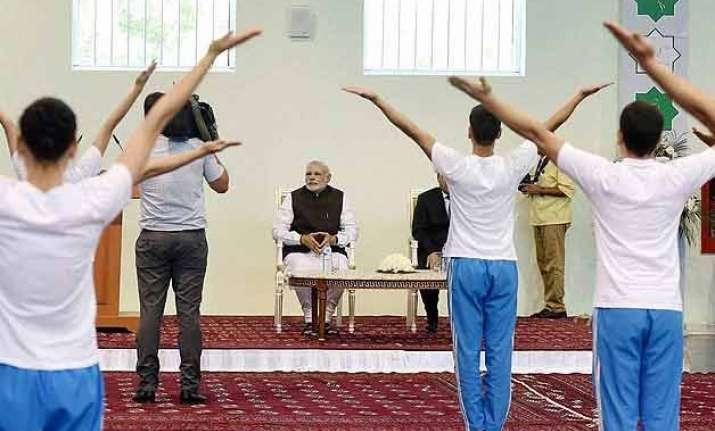 pm narendra modi inaugurates yoga centre in turkmenistan
