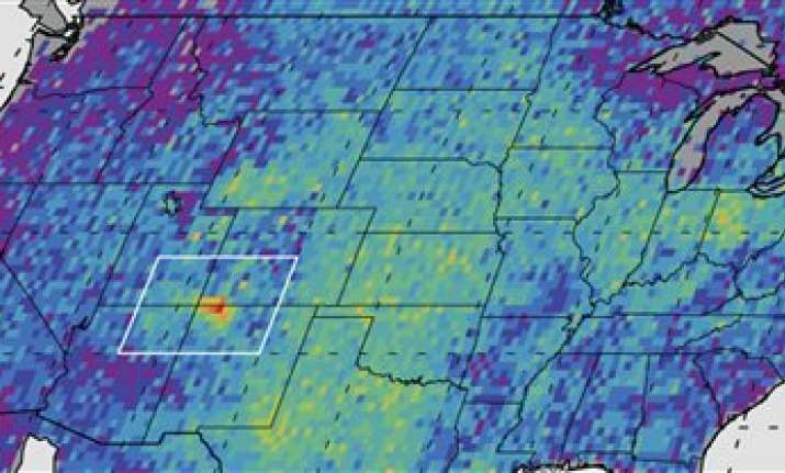 satellite sees hot spot of methane in us southwest
