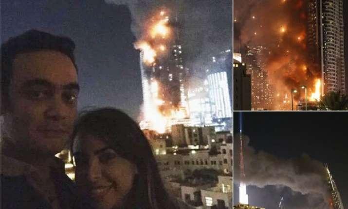 twitteratti slams couple who took selfie with burning dubai