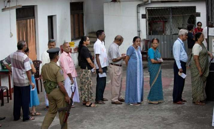 sri lanka begins voting for parliamentary polls