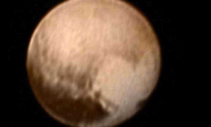 heart shaped feature viewed on pluto s surface