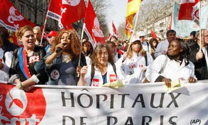 nationwide strikes in france against sarkozy