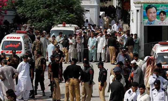 pak s punjab home minister among 19 killed in suicide attack