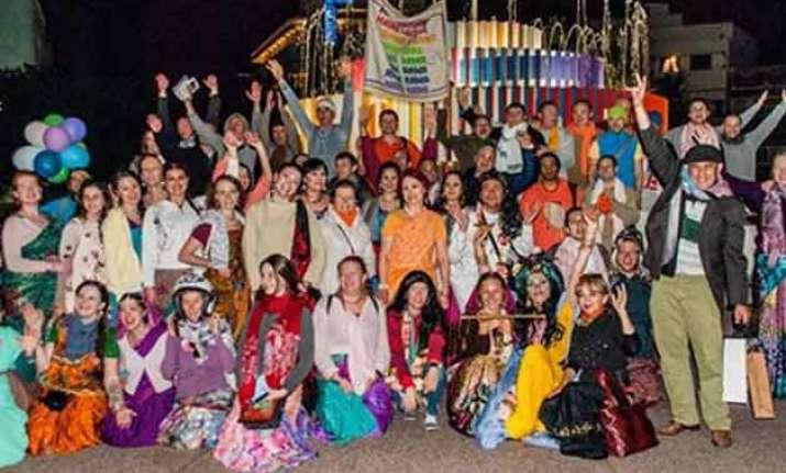 krishna devotees celebrate gaura purnima in israeli township