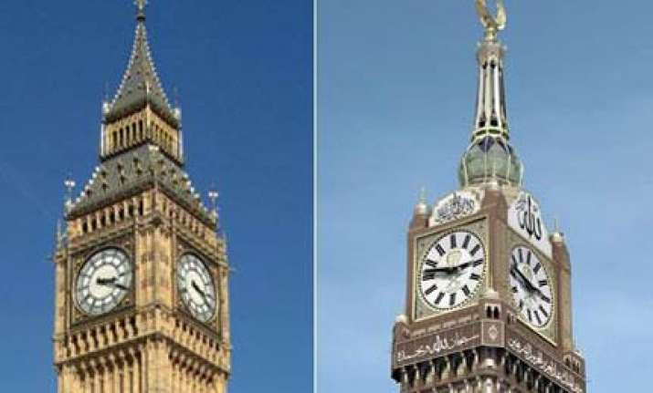 giant mecca clock challenges supremacy of greenwich mean