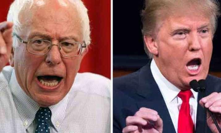 trump sanders upend us presidential race