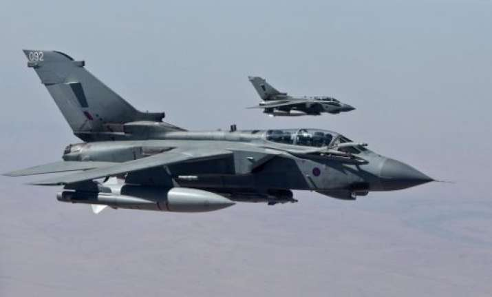 britain conducts first airstrike against is targets