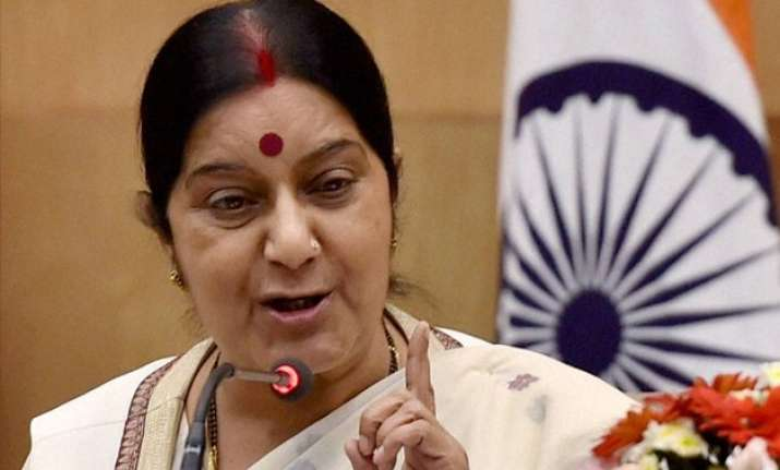 we must delink religion from terror sushma swaraj tells