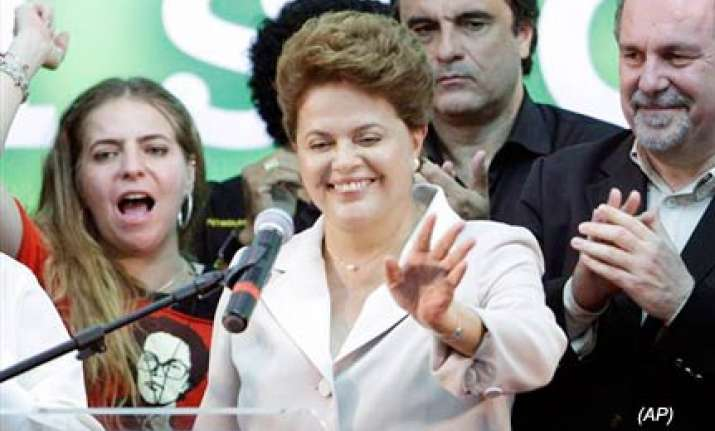 ex guerrilla dilma rousseff to be brazil s first female