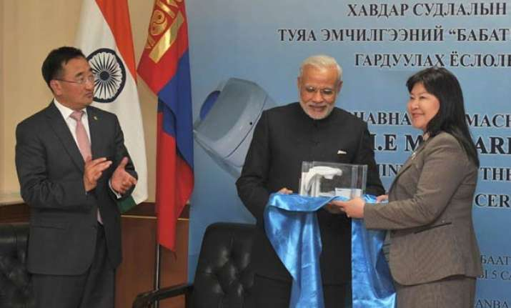 pm modi hands over bhabhatron to mongolia for cancer