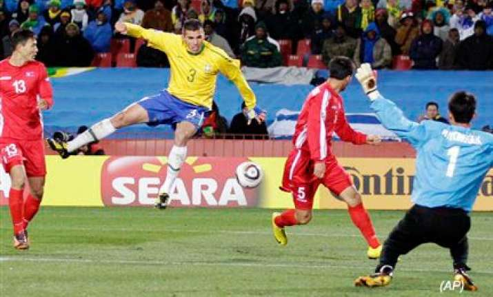 brazil beats north korea 2 1 in their wcup opener