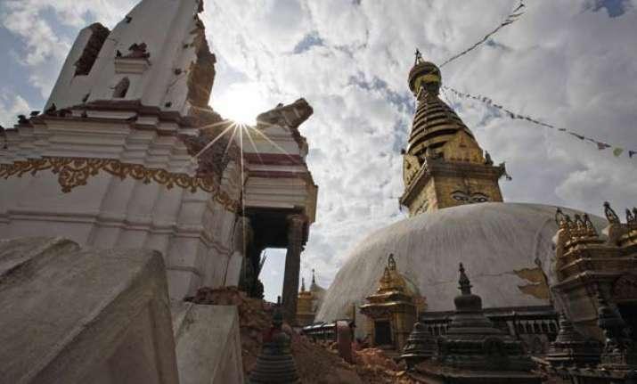 nepal quake damages world s oldest buddhist shrine