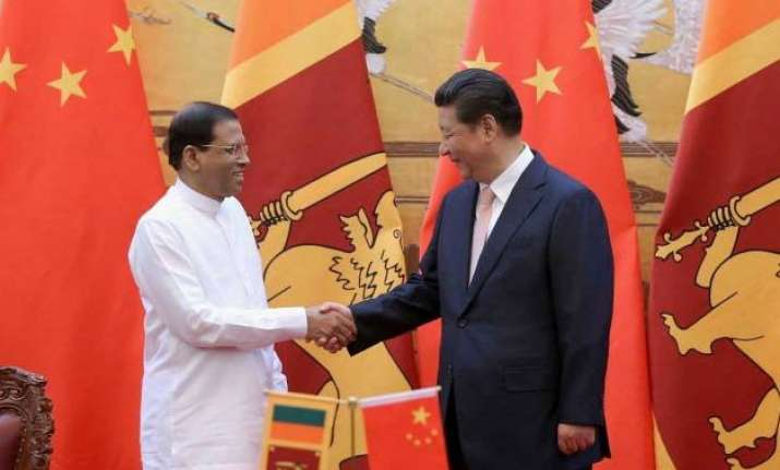 xi sirisena discuss trilateral cooperation with india