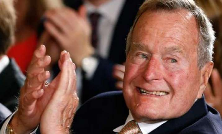 george bush discharged from hospital