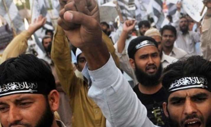 pakistan rally demands jihad against india