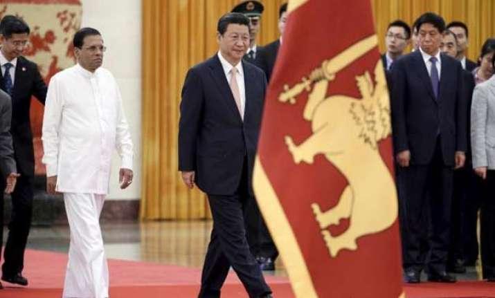 sl president sirisena meets his chinese counterpart amid