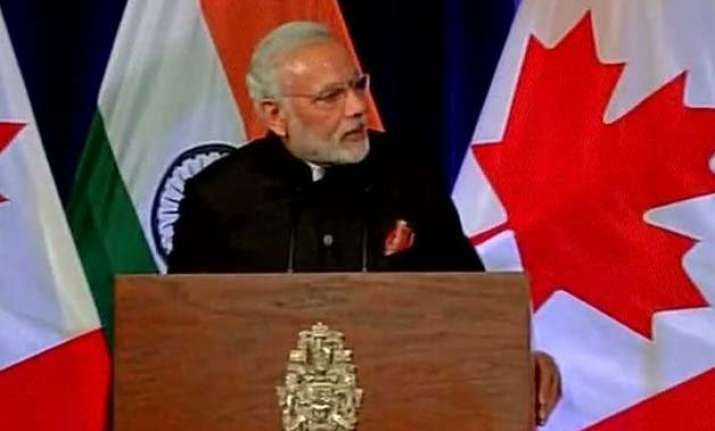 visit will herald a new era in india canada ties pm modi