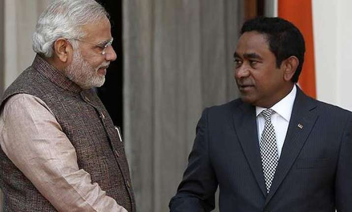 will not allow any country to set up military base maldives