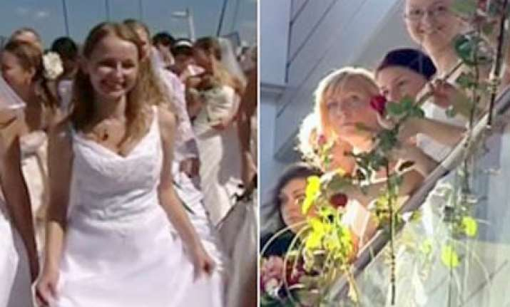 over 100 polish brides raise money for sick boy