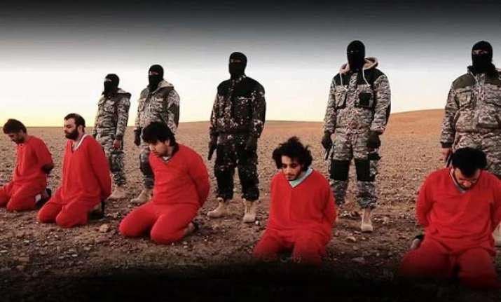 isis releases video showing execution of 5 men accused of