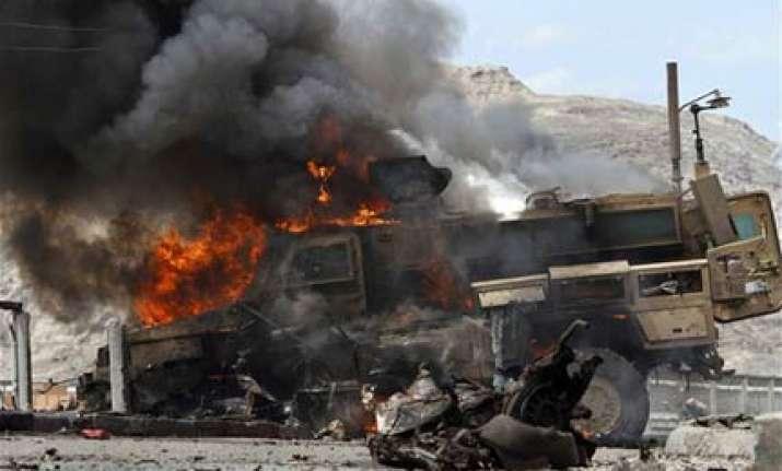 gunmen destroy nato supply trucks outside islamabad kill 7