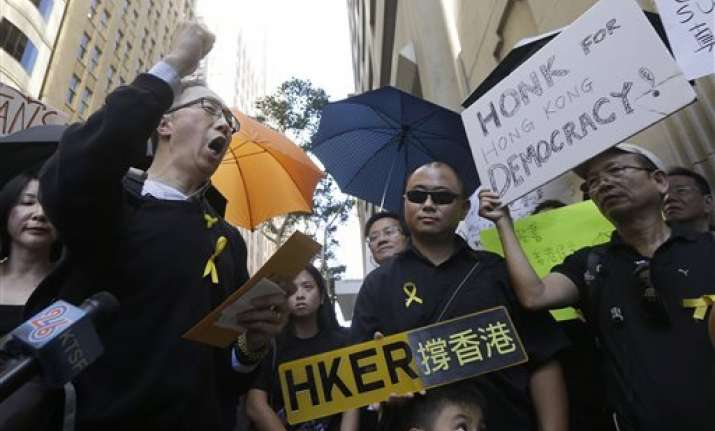 us student rallies to support hong kong protesters
