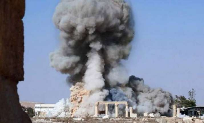 isis partially destroys ancient roman temple in syria s