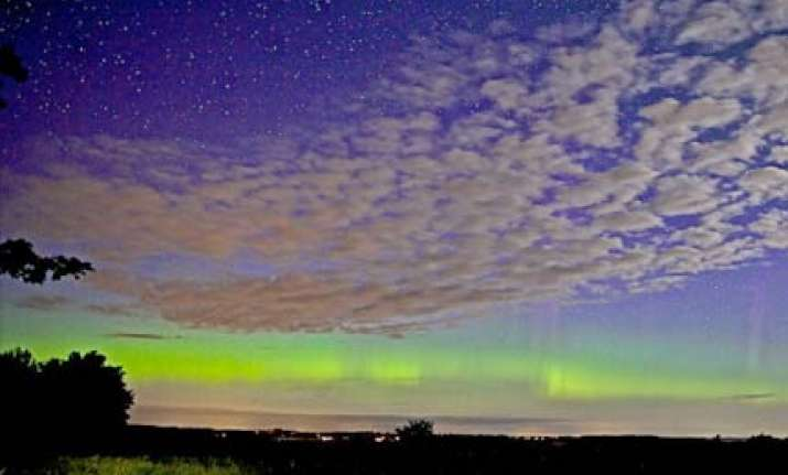 solar storm hits earth causing spectacular aurora displays
