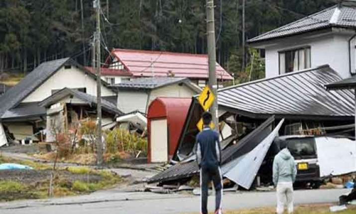 japan earthquake collapses homes causes injuries