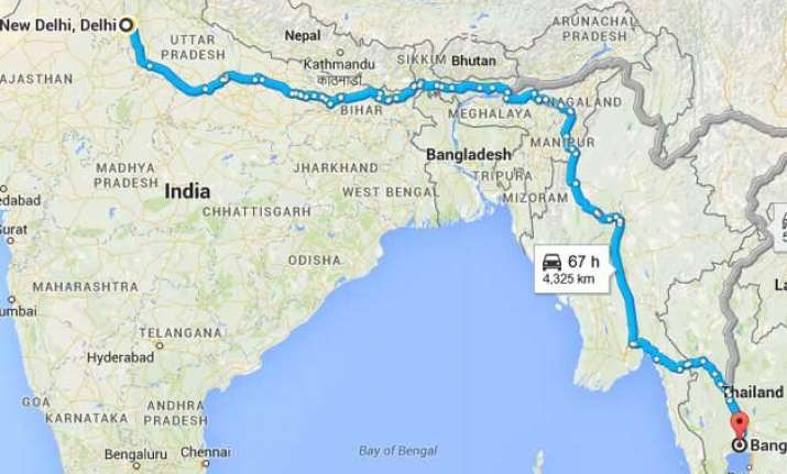 section of india myanmar thailand asian highway put into