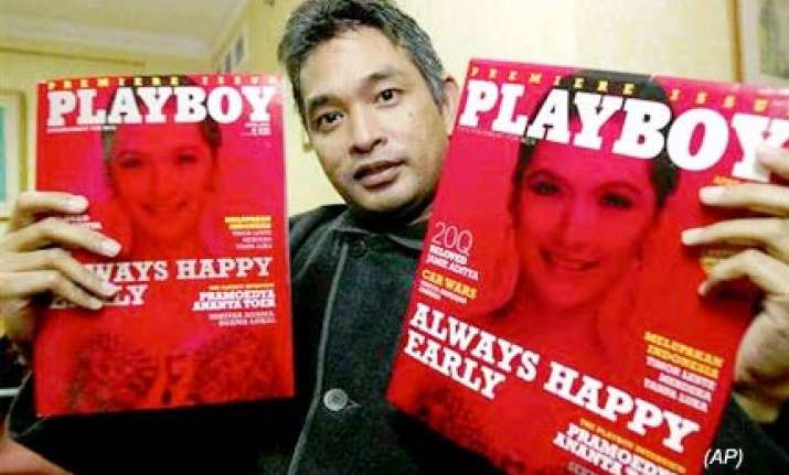 playboy indonesia s editor at large for printing near naked