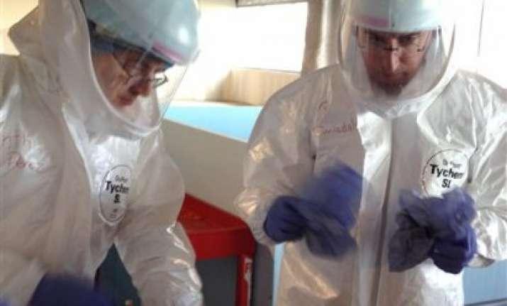 ebola training focuses on astronaut like gear