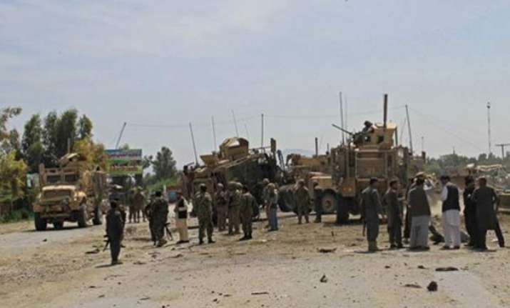 15 killed in afghan bombings including attack on nato convoy