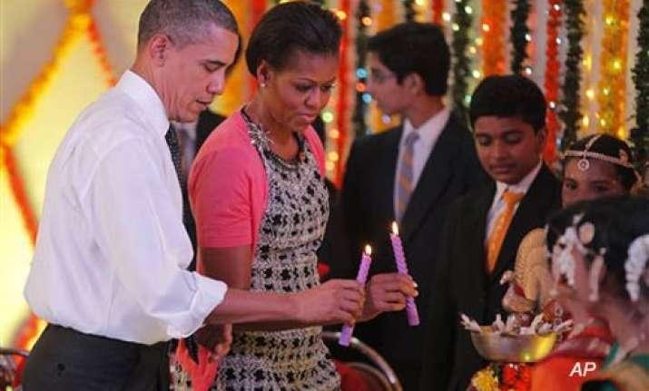 obamas celebrate diwali with schoolchildren