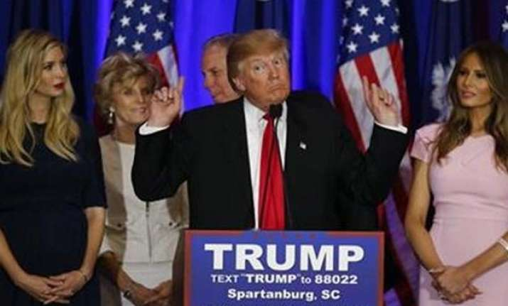 triumphant donald trump looks ahead with confidence at