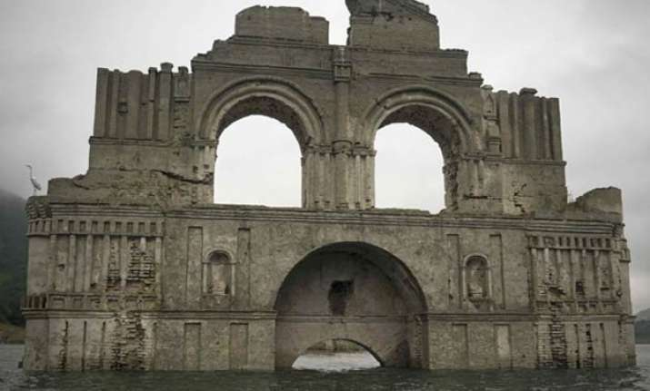 see pics 16th century colonial church emerges from water in