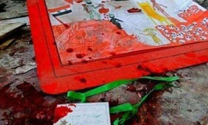 48 including 41 children killed in twin blast in syria