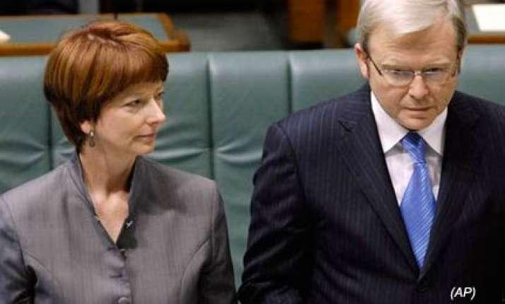 julia gillard becomes australia s first woman prime minister