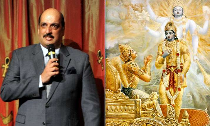 india takes up gita issue with russian authorities
