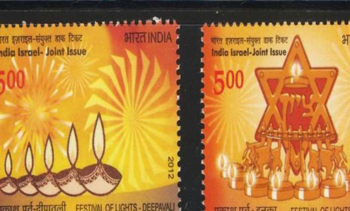 india and israel release stamps to mark 20 years of ties