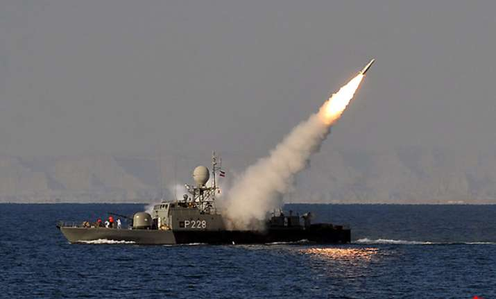 iranian navy test fires medium range surface to air missile