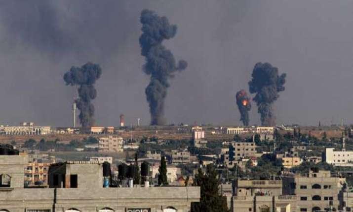 israel bombs gaza hamas fires rockets 37 killed