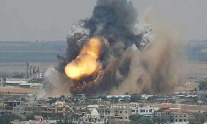 israel downs hamas drone as offensive claims 177 lives
