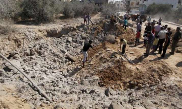 israel strikes rocket launching devices in gaza