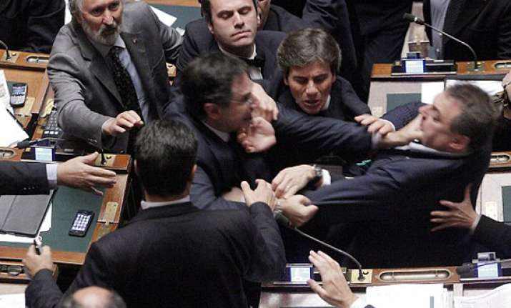 italian mps exchange blows