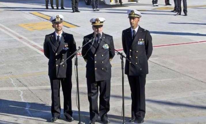italian marines back home