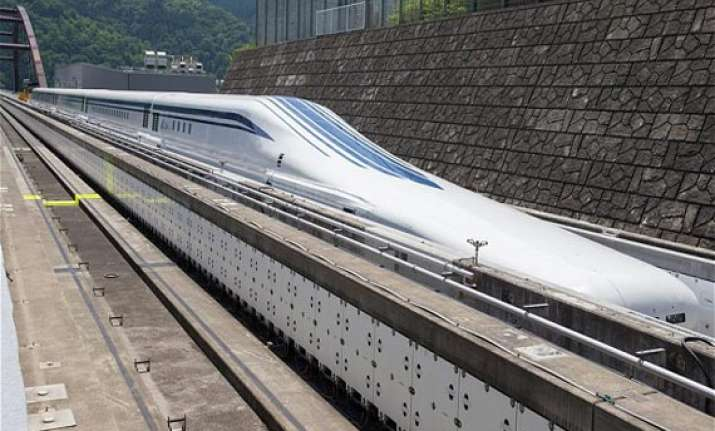 japan tests its 500 kmph floating bullet train